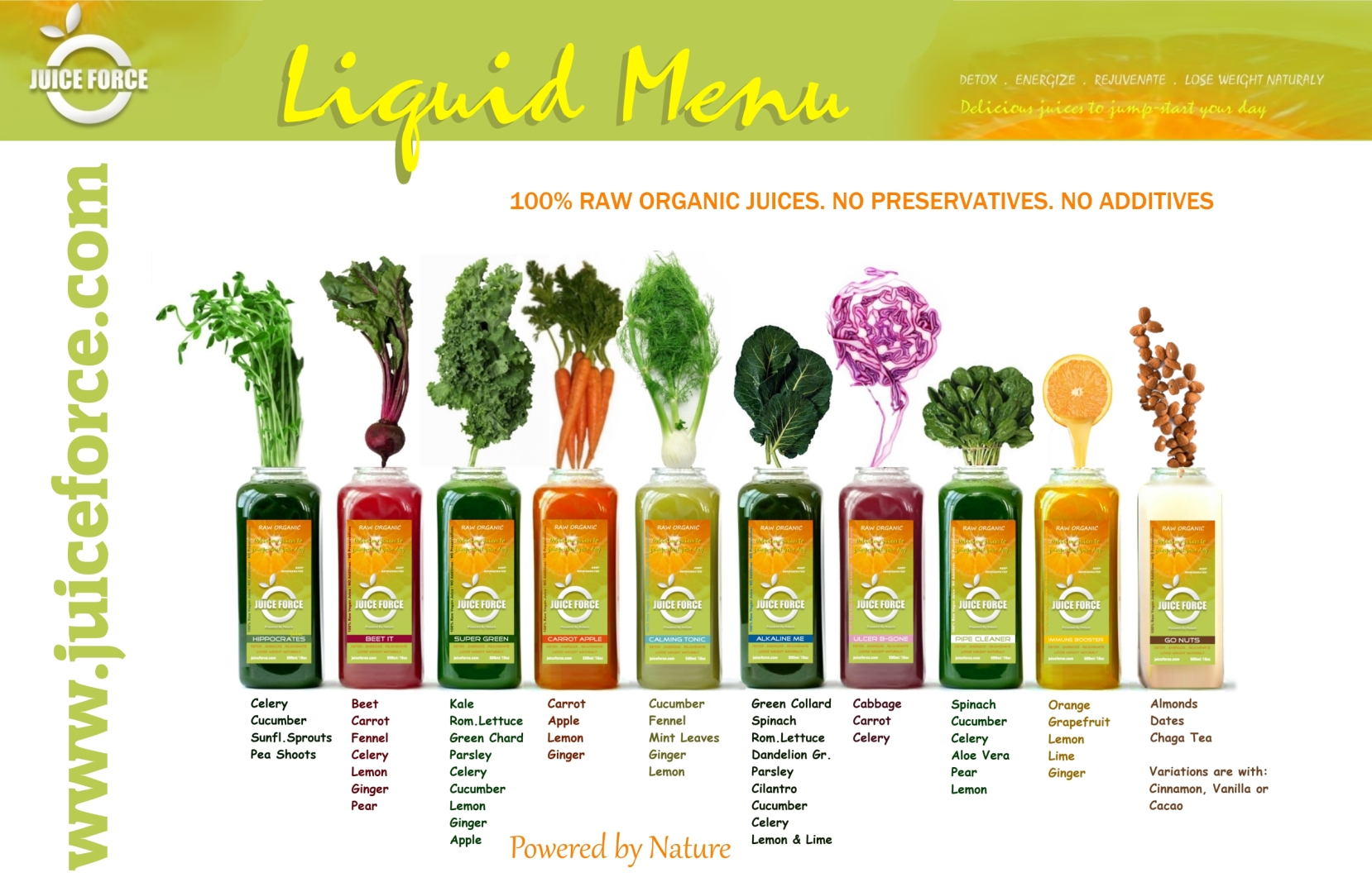 Raw Organic Juices Juice Force
